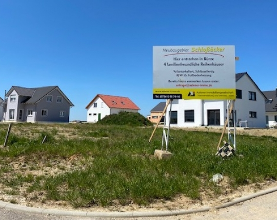Verkauft! Neubau-Reihenhaus in Aalen-Fachsenfeld (Obj. 1052H01)
